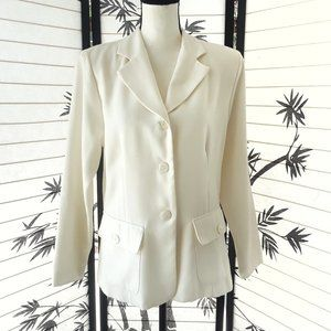 Vintage 80's/90's Pure White Blazer With Pockets